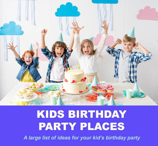 100 Amazing Kids Birthday Party Places to Think About