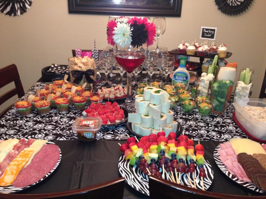 bachelorette party foods ideas