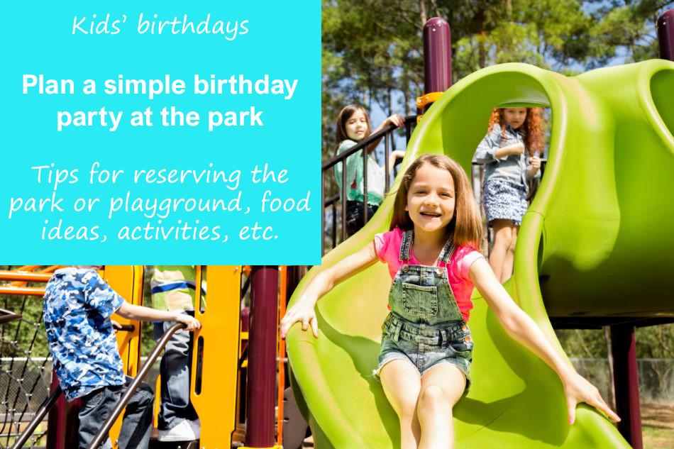 playground birthday party ideas